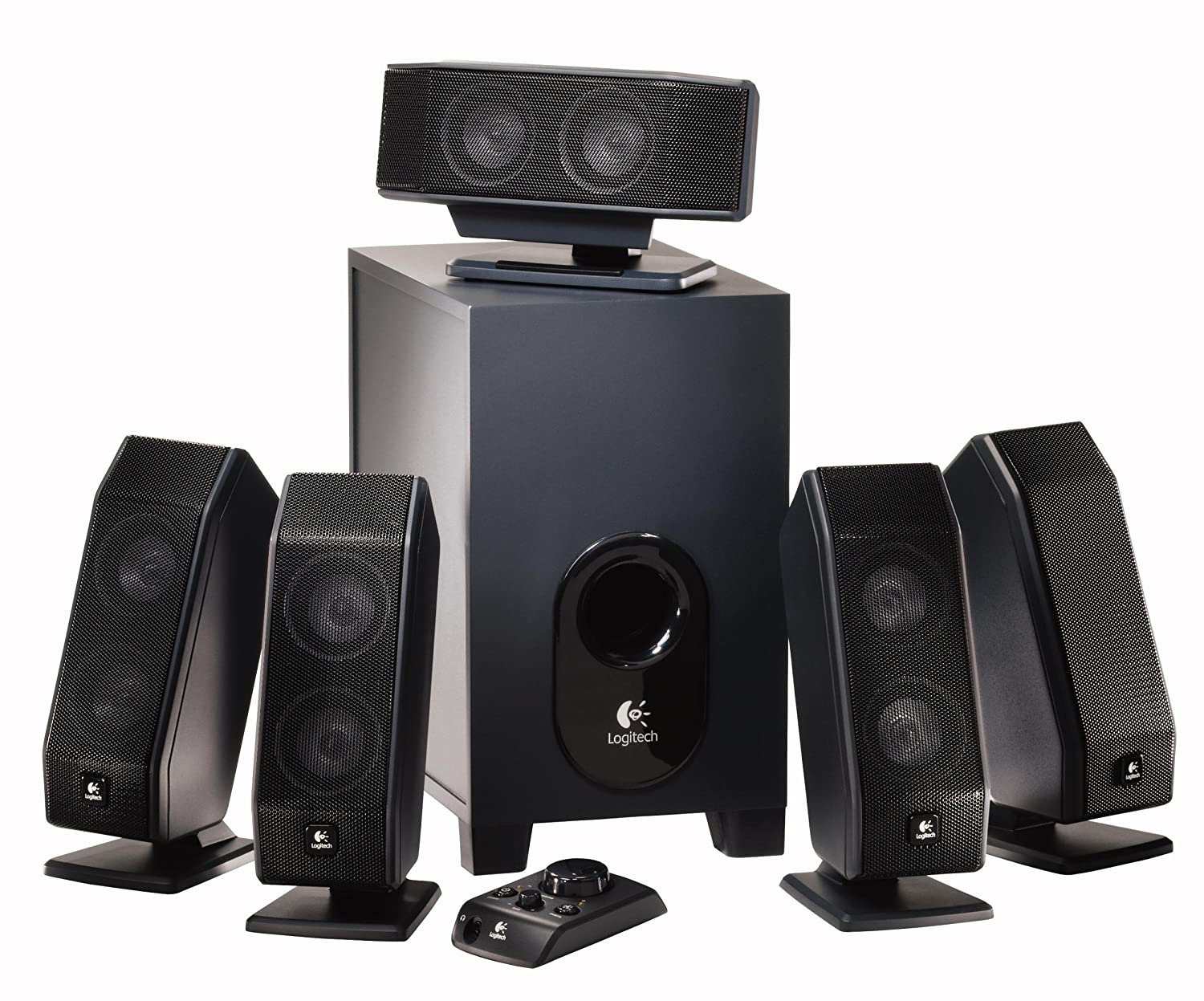 Amazon.com: Logitech X-540 5.1 Surround Sound Speaker System with  Subwoofer: Artist Not Provided: Home Audio & Theater
