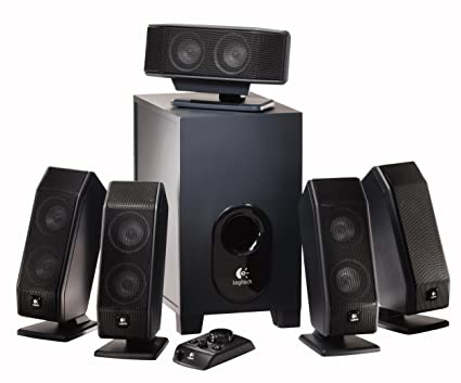 Logitech X-540 5.1 Surround Sound Speaker System with Subwoofer on