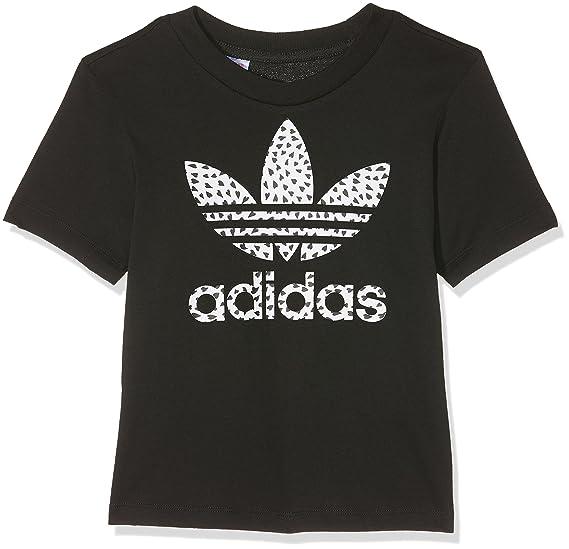 0c0b8ca2ad027 Amazon.com: adidas Originals Girl's Trefoil Tshirt 8 Black: adidas Originals:  Clothing