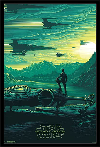 amazon com trends international wall poster star wars the force