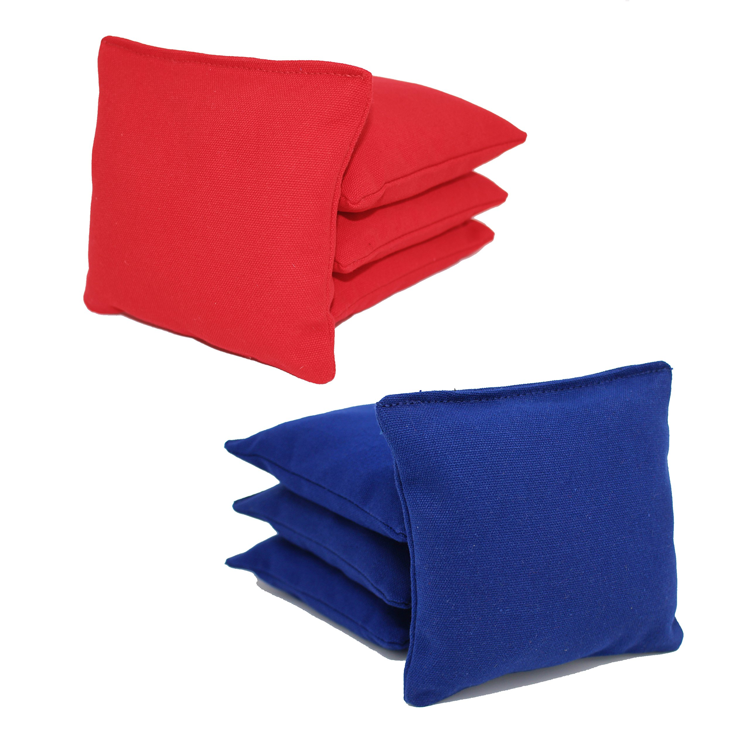Free Donkey Sports ACA Regulation Cornhole Bags (Set of 8) (Royal and Red) 25 Colors to Choose from. by Free Donkey Sports