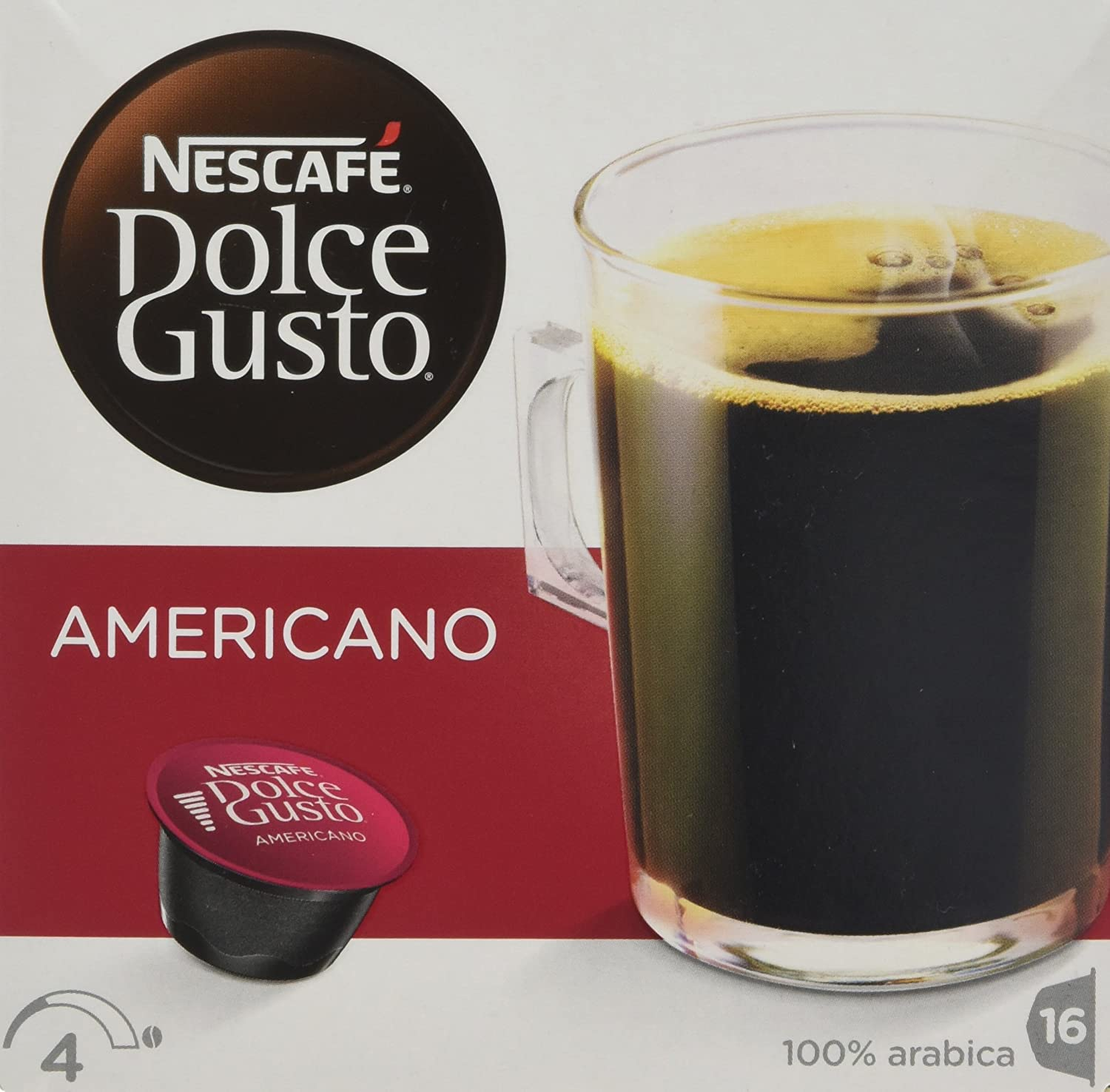 Nescafe Dolce Gusto Americano Coffee Pods 16 Drinks 160g Case