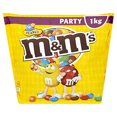 A Packet Of Peanut M S On White Background