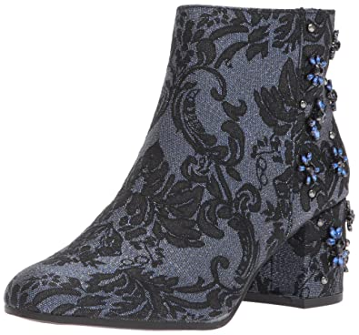 bc1a9ad156 Circus by Sam Edelman Women's Veruca Ankle Boot, Blue Jacquard, 5 Medium US