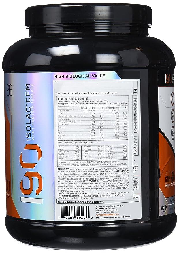 Starlabs Nutrition I90 Isolac CFM Vainilla Milkshake - 908 gr: Amazon.es: Salud y cuidado personal