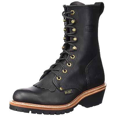 """Adtec Men's 1964 10"""" Fireman Logger Black Work Boot   Fire & Safety Boots"""