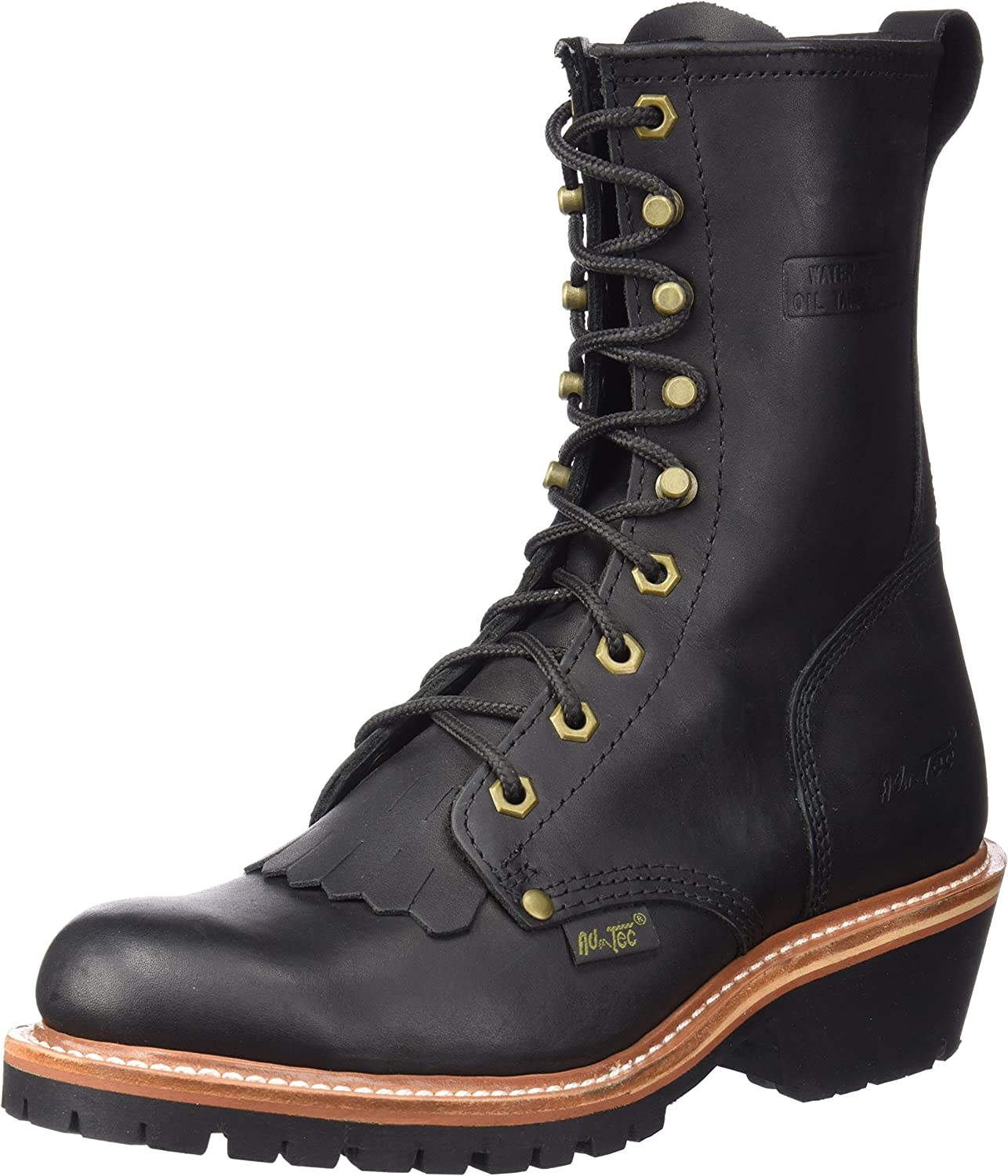 "Ad Tec Men's 1964 10"" Fireman Logger Black Work Boot (Black, Numeric_9_Point_5)"