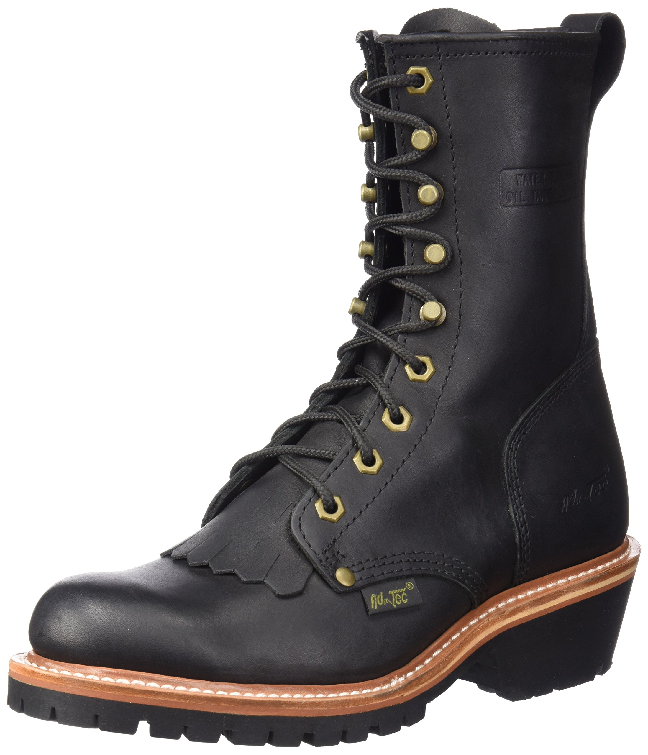 AdTec Men's 1964 10'' Fireman Logger Black Work Boot, 9.5 W US by AdTec
