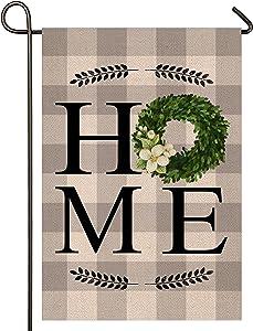 Atenia Home Garden Porch Flag, Double Sided Garden Outdoor Yard Spring Decorative Home Flags for Summer Decor (Garden Size - 12.5X18)