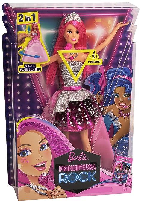 87 opinioni per Barbie CMR84 Bambola Barbie Principessa Rock