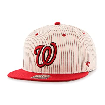 more photos e841d 4384f MLB Washington Nationals Woodside Captain Adjustable Snapback Hat, Red, One  Size, Red, Baseball Caps - Amazon Canada