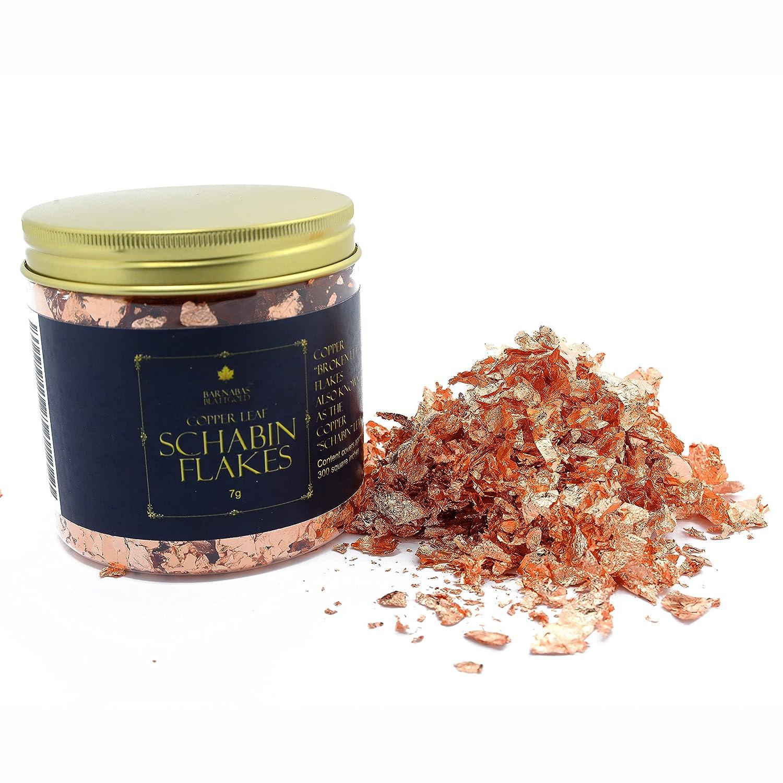 Genuine Copper Leaf Schabin Flakes Metallic Foil Flakes for Gilding, Painting Arts and Crafts (16oz jar) BARNABAS BLATTGOLD
