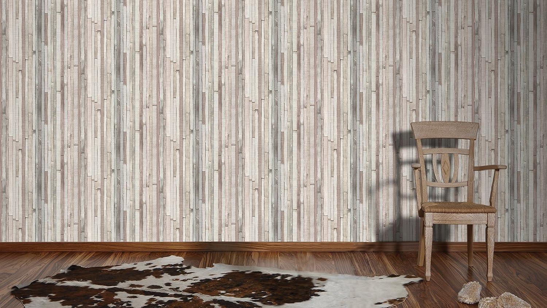 A.S Cr/éation Papier peint Authentic walls beige brun grisaille 10,05 m x 0,53 m 940552