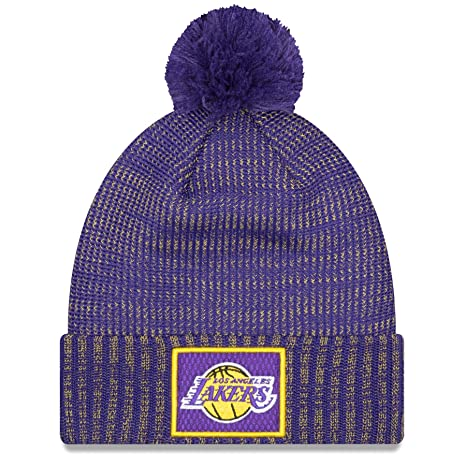 0bb4da22653 Image Unavailable. Image not available for. Color  New Era Los Angeles  Lakers NBA On Court All-Star Pom Knit Hat