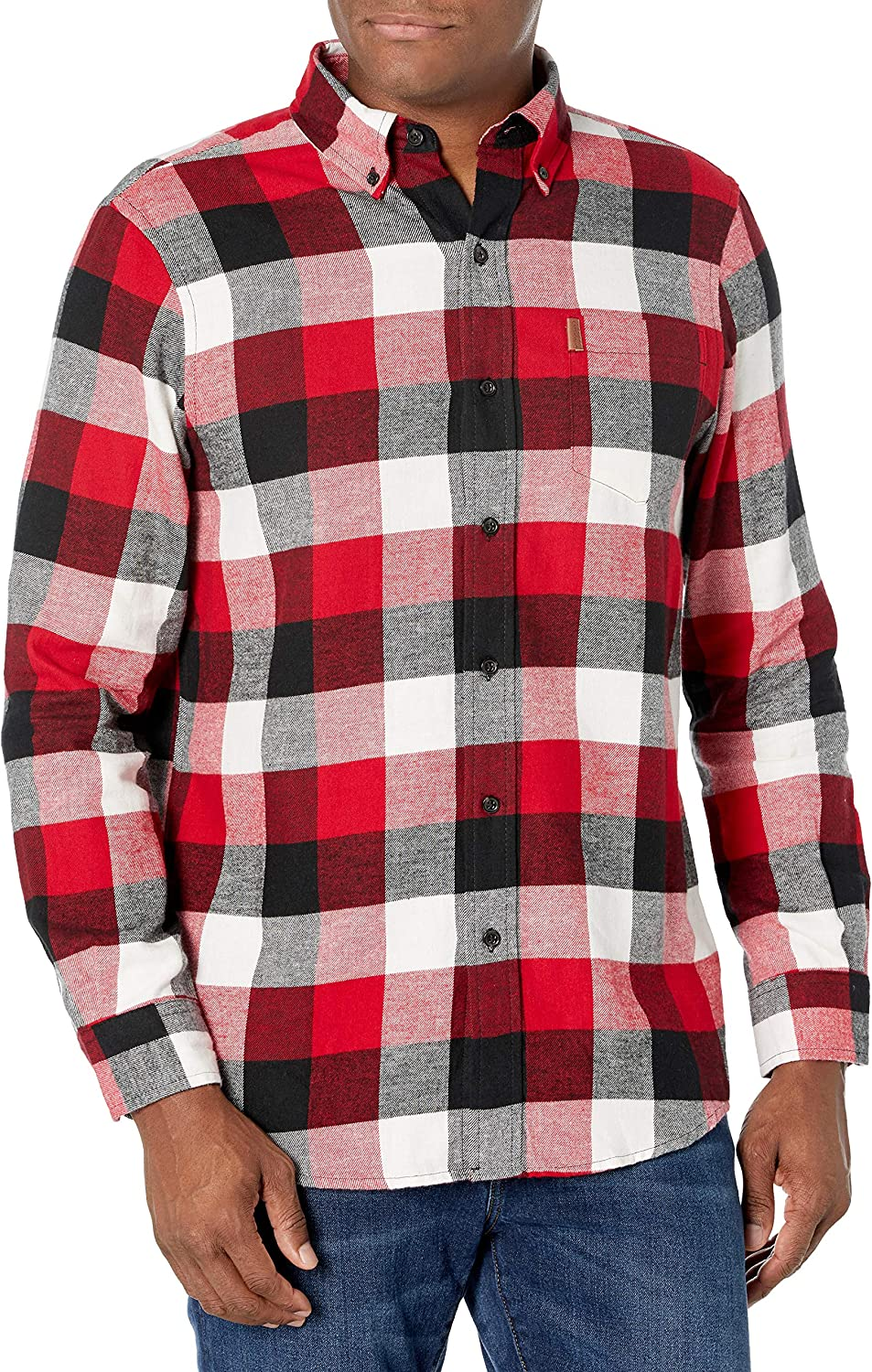 Chaps Men's Classic Fit Max 44% OFF Sale Long Performance Flannel Sleeve Shirt