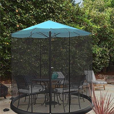 Pure Garden 50-LG1205 Bug Screen for 10-11 Table Umbrellas & Furniture Patio Umbrella Mosquito Net, Black : Garden & Outdoor