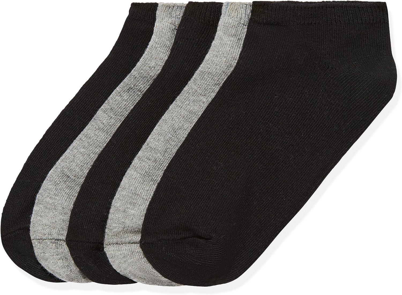 4 12 PACK Kid/'s Sports Cotton Crew Socks Solid Black Junior Size 6-8 Boy Girls