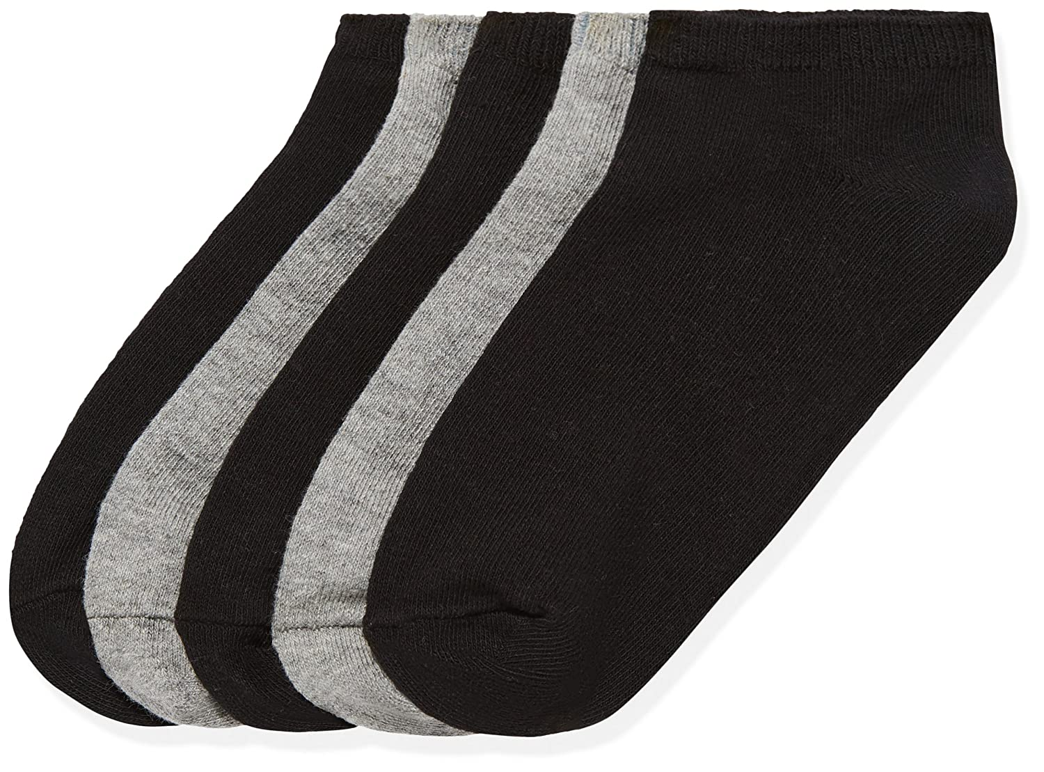 RED WAGON Girl's Grey/White Trainer Liners Ankle Socks 5-Pack FIND C051M