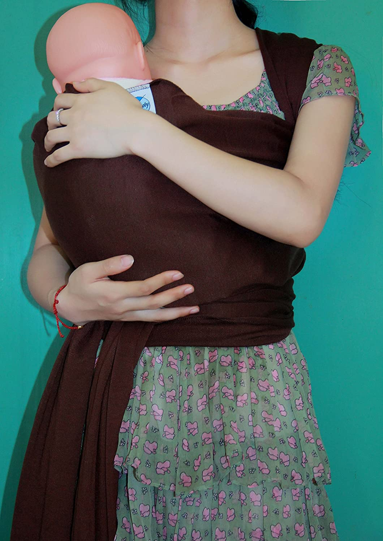 Hivel Original de Algodon Natural Fular Portabebes Portador de Bebe Baby Carrier Infant Backpack Sling Wrap - Azul Oscuro BABY-WARP-DARKBLUE