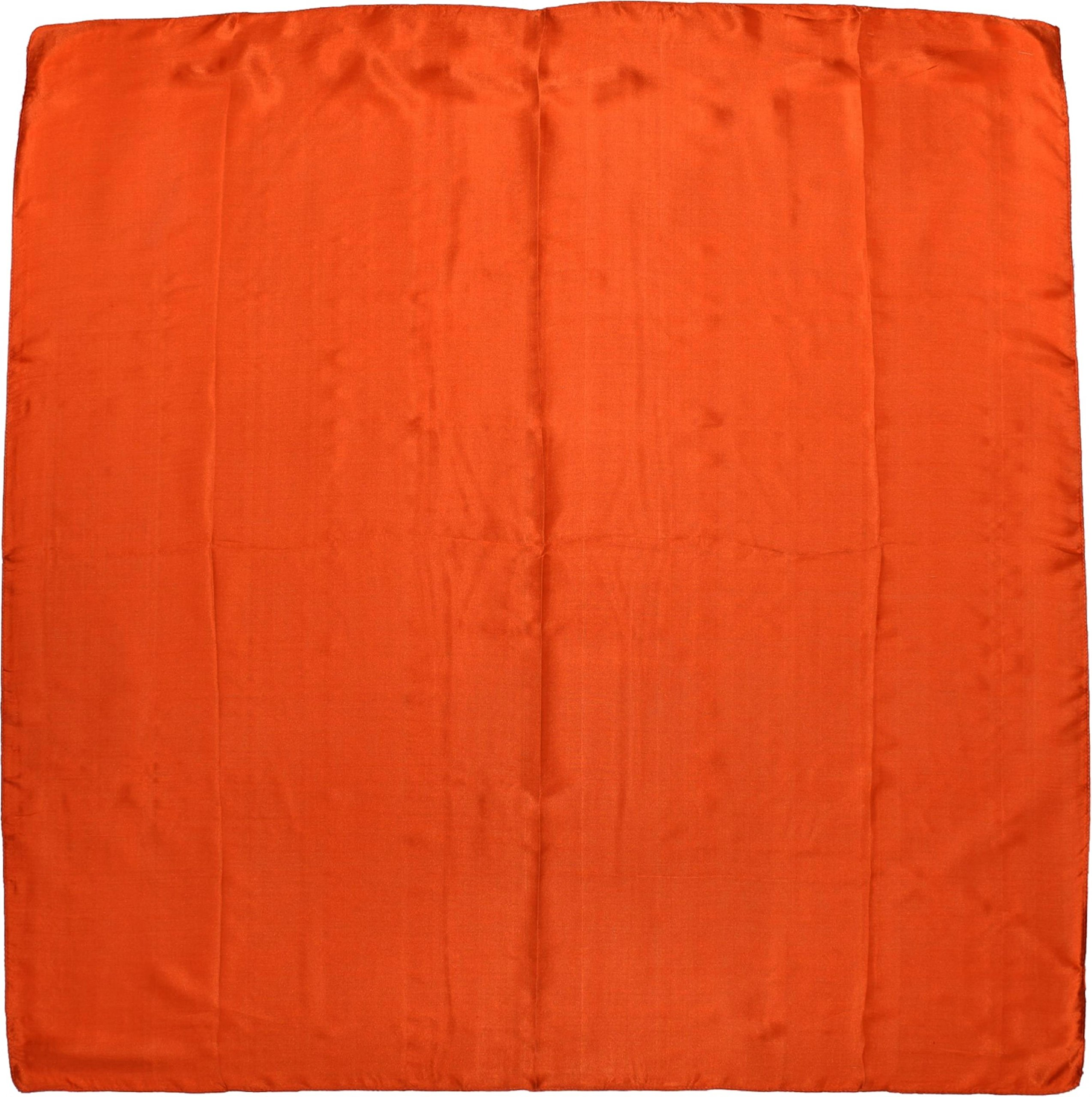 Orange Fine Silk Square Scarf by Bees Knees Fashion (Image #2)