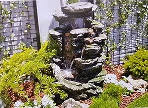 TerraFloraPlus Fuente de jardín MIÑO - 08623006 - Poliresina - válida para Exterior e Interior.: Amazon.es: Jardín