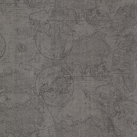 Bhf 2604 21239 cartography vintage world map wallpaper pewter bhf 2604 21239 cartography vintage world map wallpaper pewter publicscrutiny Choice Image