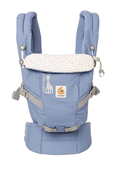 25e18b9f65f Image Unavailable. Image not available for. Color  Ergobaby Adapt 3 Position  Baby Carrier (Sophie la Girafe - Festival)