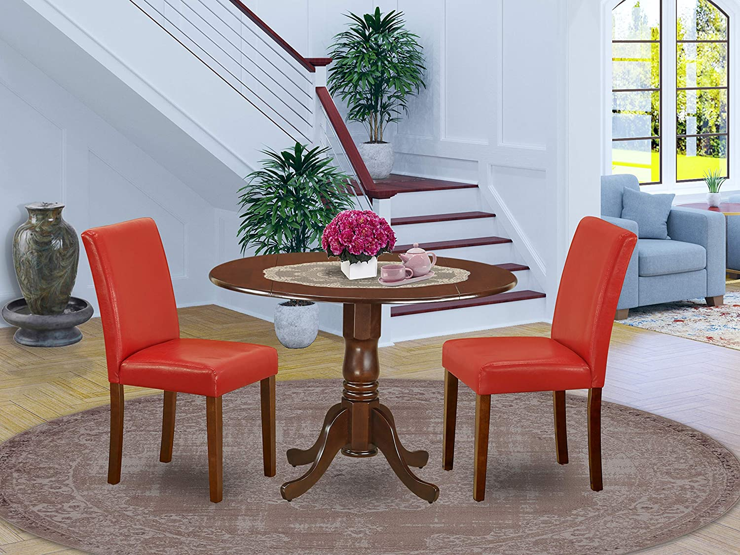 East West Furniture 3Pc Round 42