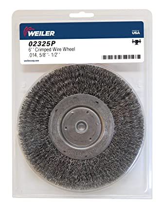 """Toolman Heavy duty 6/"""" x 1//2/"""" 5//8/"""" Crimped Wire Bench Wheel Brush angle grinder"""