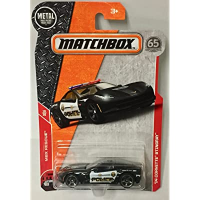 Matchbox 2020 MBX Rescue '14 Corvetter Stingray (Police Car) 62/125, Black: Toys & Games