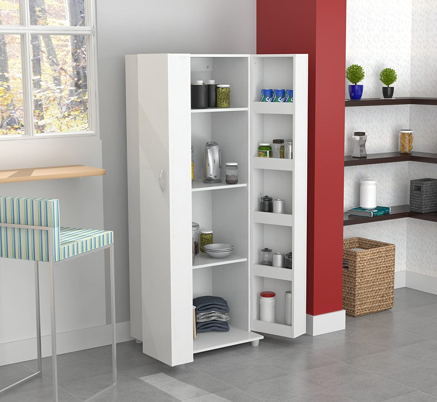 Amazon Inval America 2 Door Storage Cabinet Laricina White