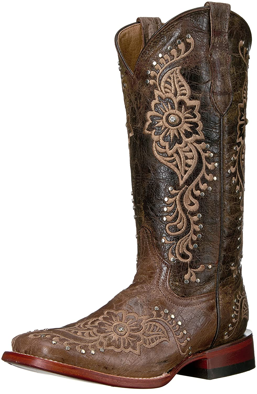 [Ferrini] Boot レディースLadies Wild Flower Choc Square Toe Choc Western Boot Flower B01EM5D12C 9.5 チョコレート チョコレート 9.5, 柏市:da27f551 --- gallery-rugdoll.com
