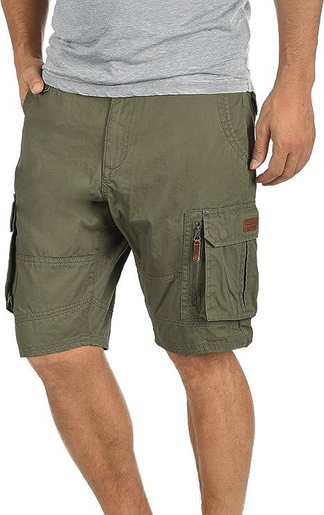 TALLA S. Blend Gaara Pantalón Cargo Bermudas Pantalones Cortos para Hombres De 100% algodón Regular-Fit