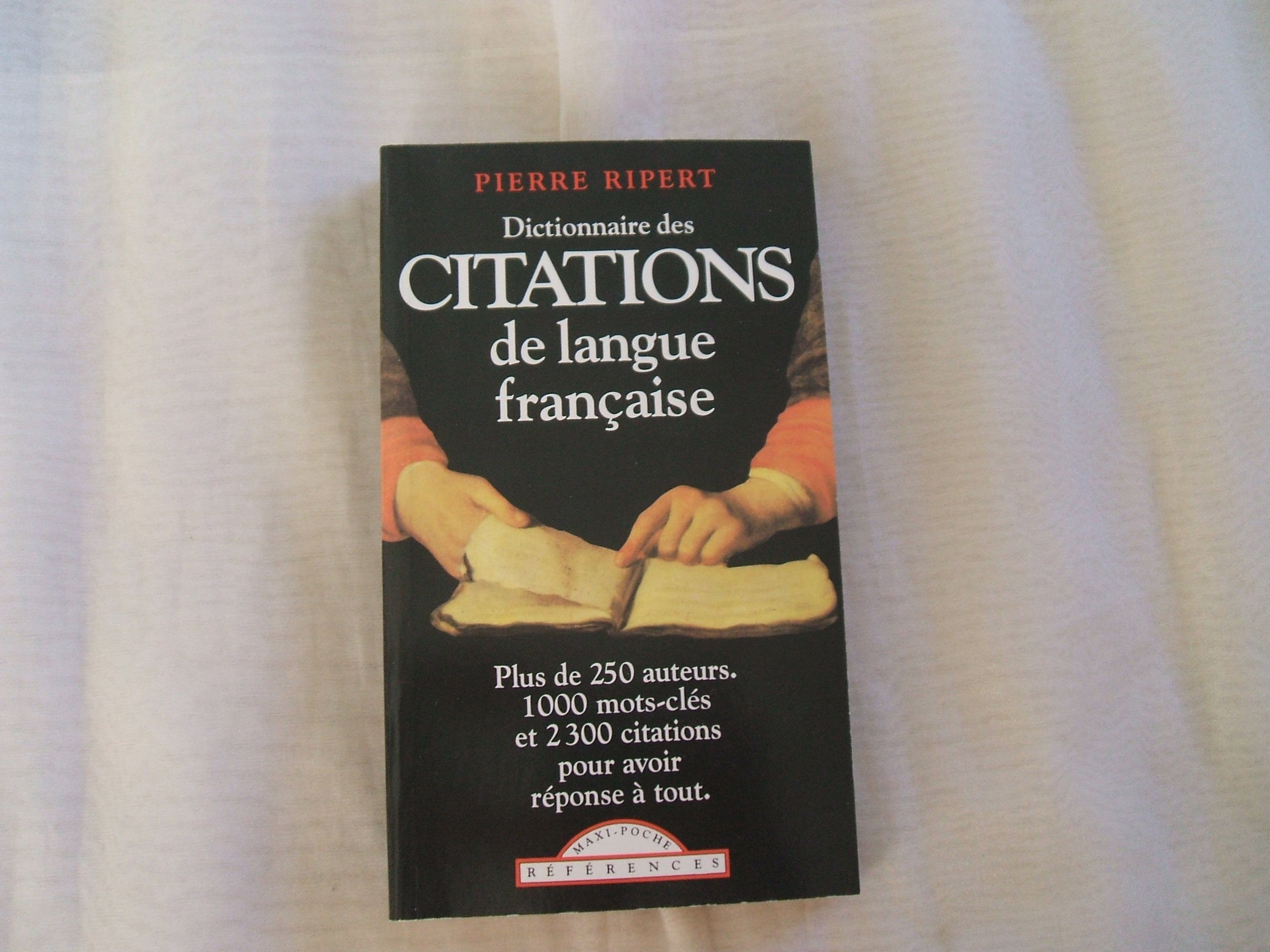 Dictionnaire des citations de la langue française PDF