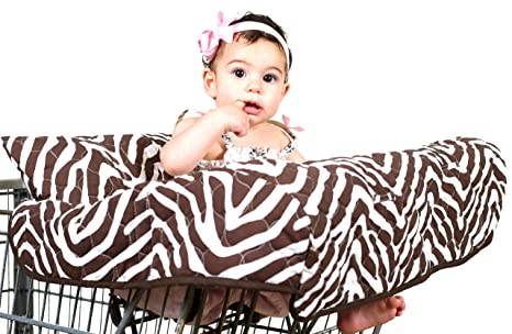 Pam Grace Creaciones Grocery Cart Cover Set de regalo, Zara Zebra