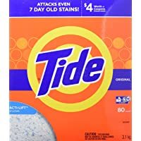 Tide High Efficiency Turbo Powder Laundry Detergent with Acti-Life, Original Scent, 3.1 kg (80 Loads)