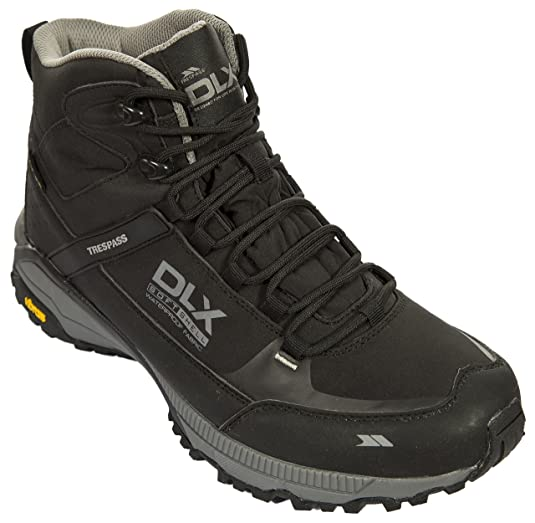 Renton Mens Walking Boots Lightweight Black Waterproof Hiking Boots