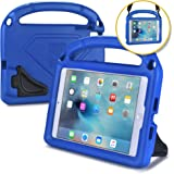BAM BINO Hero Kids Case Compatible with Apple iPad Mini 4 3 2 1   Shock Proof Heavy Duty Rugged Cover for Kids   Children's Protective, Boys Girls   Shoulder Strap, Large Handle & Dual Stand (Blue)