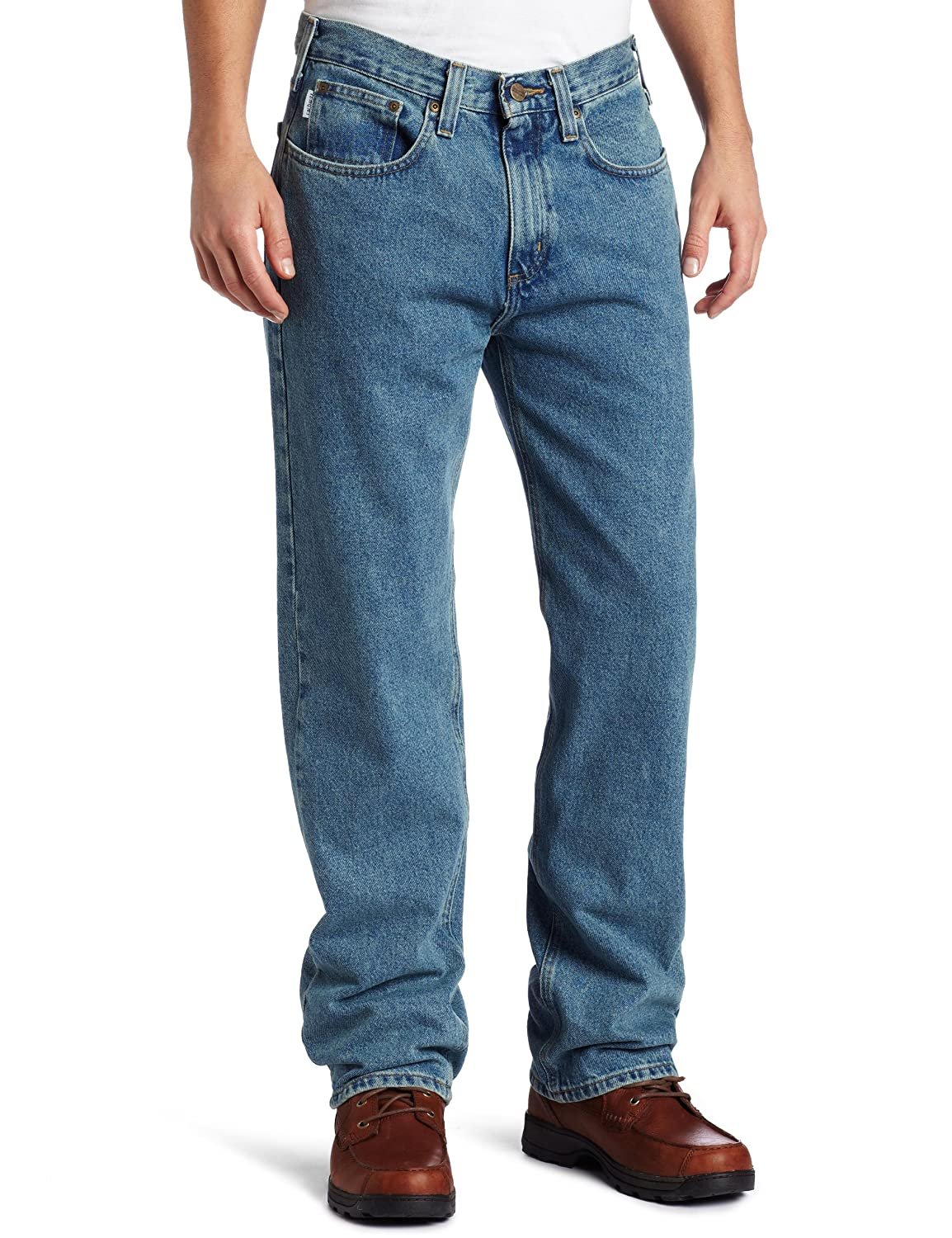 Carhartt Men's Relaxed Straight Denim Five Pocket Jean B460 Carhartt Sportswear - Mens
