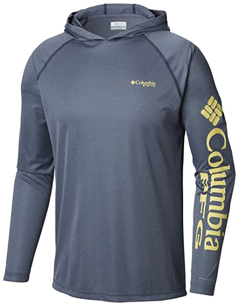 cd9356d4dc7 Amazon.com: Columbia Men's PFG Terminal Tackle Heather Hoodie, Breathable,  UV Sun Protection: Clothing