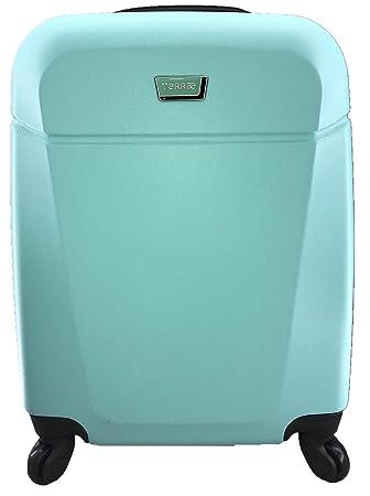 Maleta Equipaje de mano cabina rígida ligera con 4 ruedas, 55cm, TERRAE, color Turquesa TQ0850: Amazon.es: Equipaje