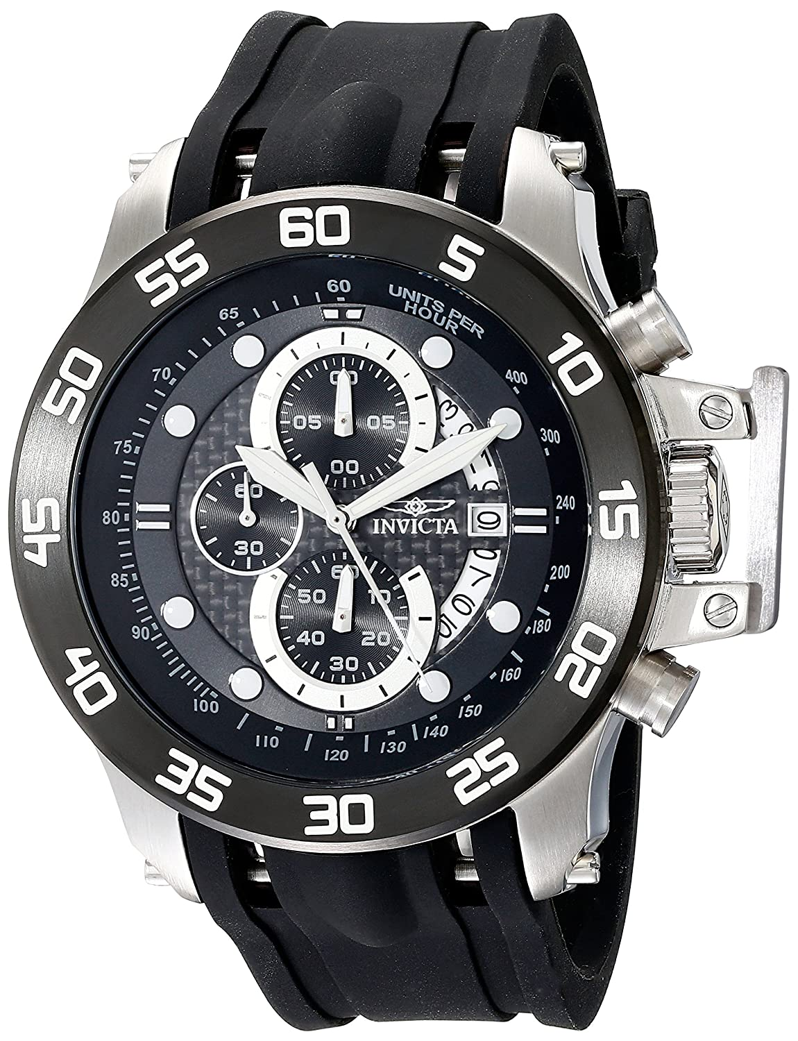 Invicta Men 19251 IForce Stainless Steel Watch With Black Synthetic Band