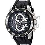 Invicta Men's I-Force 51mm Stainless Steel Chronograph Quartz Watch with Black Polyurethane Band, Black (Model: 19251)