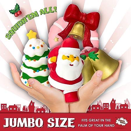 2b950f8365393 Amazon.com  Christmas Squishies Toys (4 Pcs) - Xmas Donut Squishy ...