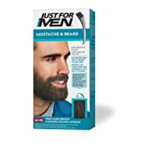 Just For Men Mustache & Beard, Beard Coloring for Gray Hair with Brush Included...