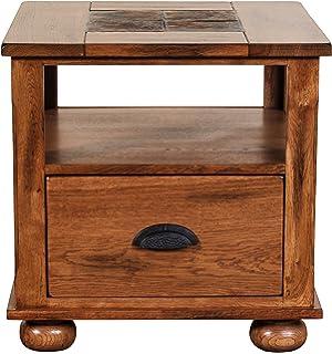 Sunny Designs Sedona End Table In Rustic Oak