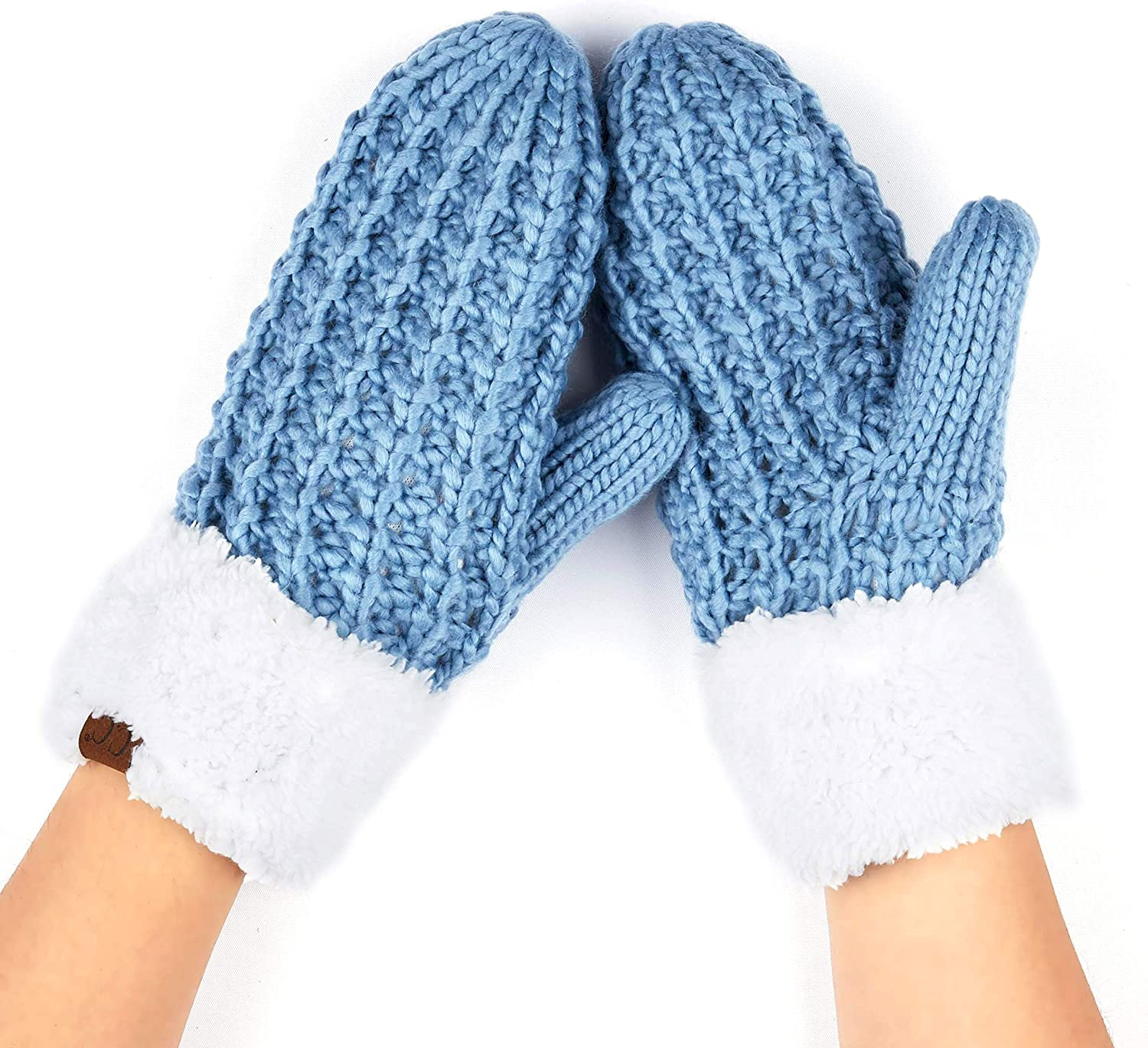 Woman Winter Fashion Warm Fluffy Lady Thick Solid Soft Gloves Fingerless Mittens
