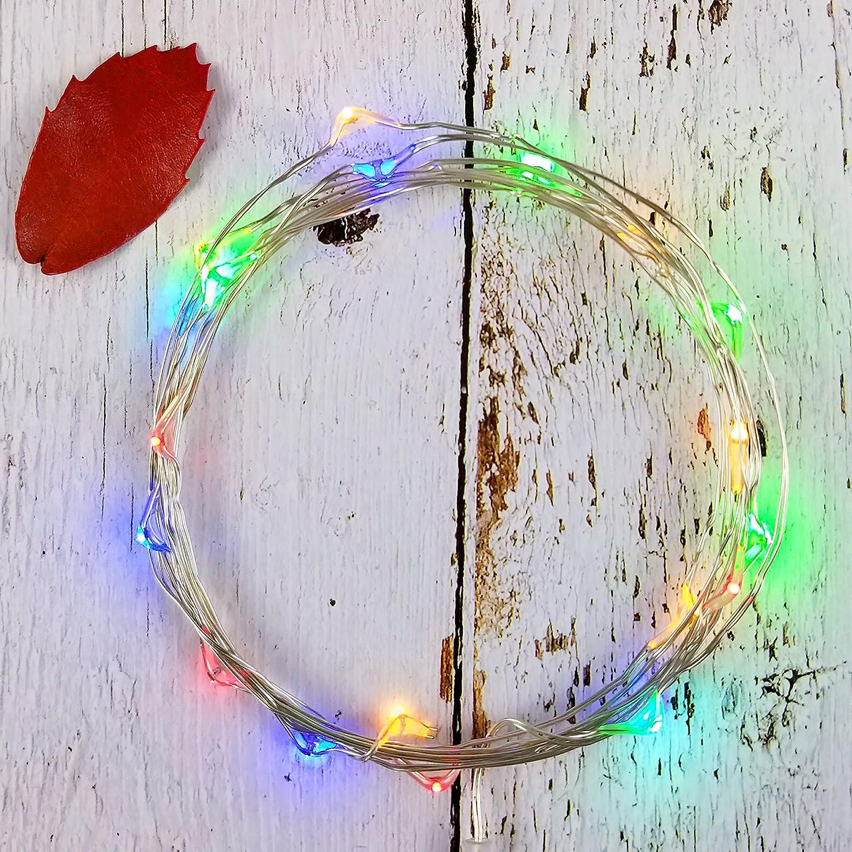 Amazon.com : illumiForce LED Starry String Lights, Battery Operated ...