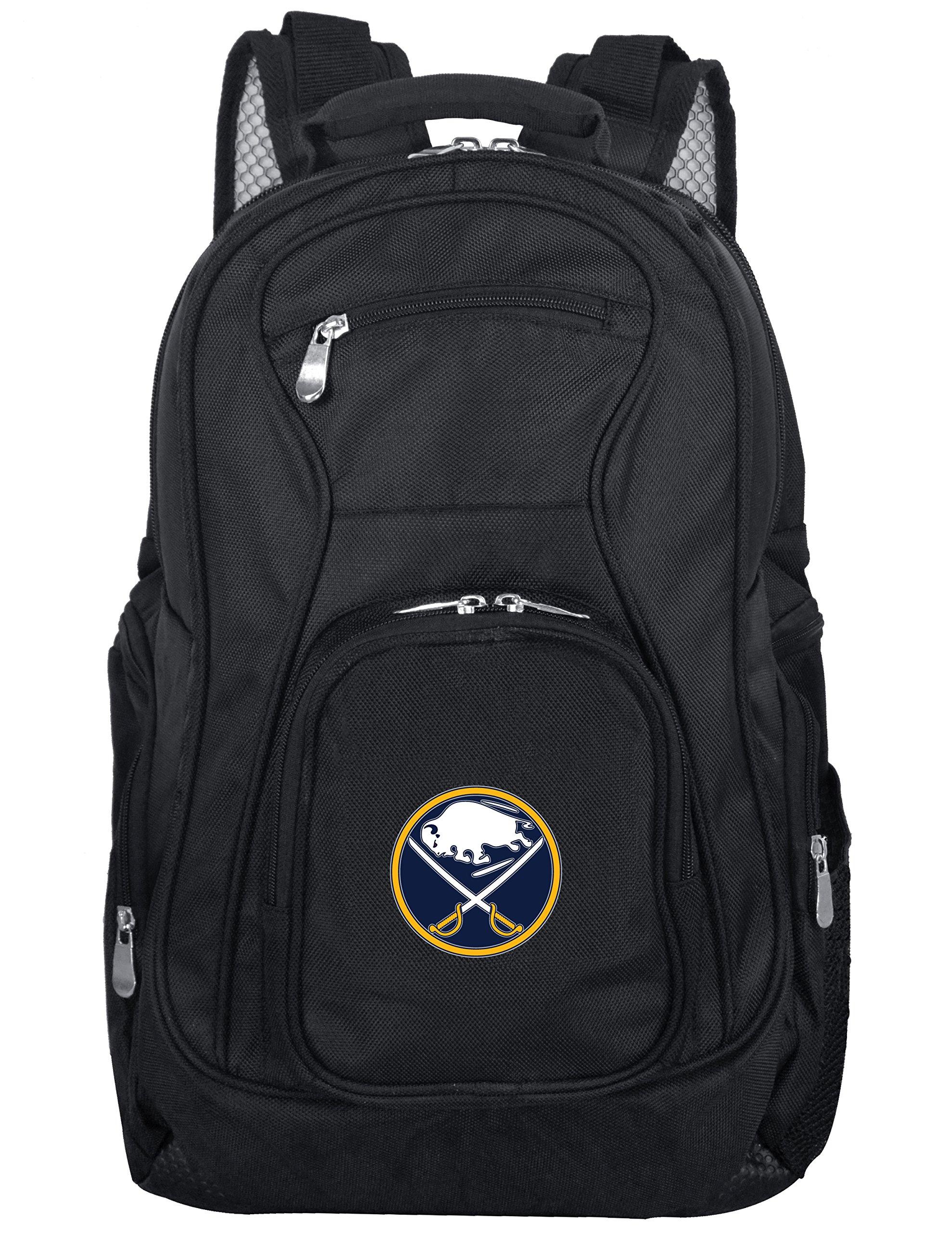 Denco NHL Buffalo Sabres Voyager Laptop Backpack, 19-inches, Black