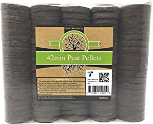 Root Naturally 42mm Peat Pellets - 100 Count